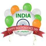 Η σημαία της Ινδίας Επίσημες χρώματα και αναλογία σωστά μπαλονιών απεικόνιση αποθεμάτων
