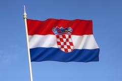 Η σημαία της Κροατίας - της Ευρώπης στοκ εικόνα