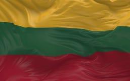 Η σημαία της Λιθουανίας που κυματίζει στον αέρα τρισδιάστατο δίνει Στοκ Εικόνα