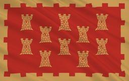Η σημαία του μεγαλύτερου Μάντσεστερ είναι ένας μητροπολιτικός νομός, Αγγλία απεικόνιση αποθεμάτων