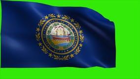Η σημαία του Νιού Χάμσαιρ, NH, συμφωνία, Μάντσεστερ, στις 21 Ιουνίου 1788, κράτος των Ηνωμένων Πολιτειών της Αμερικής, ΗΠΑ δηλώνε απεικόνιση αποθεμάτων