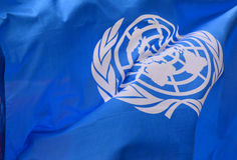 Η σημαία των Ηνωμένων Εθνών Στοκ φωτογραφία με δικαίωμα ελεύθερης χρήσης