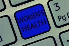 Η σημείωση γραψίματος που παρουσιάζει γυναίκες s είναι υγεία Επιχειρησιακή φωτογραφία που επιδεικνύει Women& x27 φυσική συνέπεια  Διανυσματική απεικόνιση