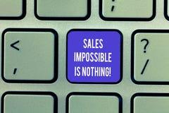Η σημείωση γραψίματος που παρουσιάζει πωλήσεις αδύνατες δεν είναι τίποτα Η επιχειρησιακή φωτογραφία που επιδεικνύει όλα μπορεί να στοκ εικόνες