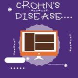 Η σημείωση γραψίματος που παρουσιάζει Crohn s είναι ασθένεια Επιχειρησιακή φωτογραφία που επιδεικνύει την εμπρηστική ασθένεια του διανυσματική απεικόνιση