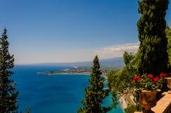 Η σισιλιάνα ακτή από Taormina - την Ιταλία Στοκ εικόνες με δικαίωμα ελεύθερης χρήσης
