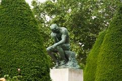 Η σκέψη στο μουσείο Rodin στο Παρίσι Στοκ Φωτογραφίες