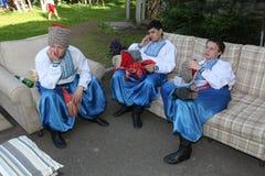Η σκηνή Ð ¾ ν είναι χορευτές και τραγουδιστές, δράστες, μέλη χορωδιών, χορευτές corps de ballet, soloists του ουκρανικού συνόλου  Στοκ Φωτογραφία