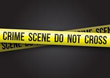 Η σκηνή εγκλήματος δεν διασχίζει διανυσματική απεικόνιση