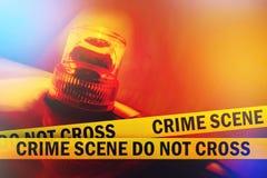 Η σκηνή εγκλήματος δεν διασχίζει Στοκ Φωτογραφίες