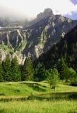 η σκηνή Ελβετία βουνών Στοκ Φωτογραφία