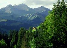 η σκηνή Ελβετία βουνών Στοκ Εικόνες