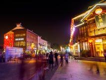 Η σκηνή νύχτας της οδού εστιατορίων του Nanchang εντοπίζει στις 11 Νοεμβρίου 2017 Στοκ φωτογραφία με δικαίωμα ελεύθερης χρήσης