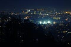 Η σκηνή νύχτας της πόλης του Λουμπλιάνα πυροβόλησε από Tosko Celo, Σλοβενία στοκ φωτογραφία με δικαίωμα ελεύθερης χρήσης