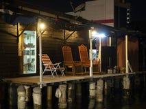 Η σκηνή νύχτας του patio ενός σπιτιού, μασά το λιμενοβραχίονα, Penang στοκ φωτογραφία