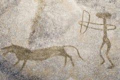 Η σκηνή του αρχαίου ατόμου Στοκ Εικόνες