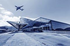 Η σκηνή του κτηρίου αερολιμένων Στοκ φωτογραφία με δικαίωμα ελεύθερης χρήσης