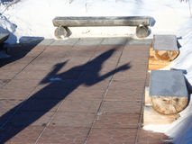 Η σκιά ενός ατόμου Στοκ Εικόνες
