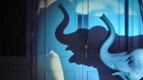 Η σκιά ενός ελέφαντα στο δωμάτιο απόθεμα βίντεο