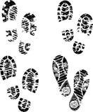 Η σκιαγραφία παπουτσιών απλοποιεί Στοκ Φωτογραφίες