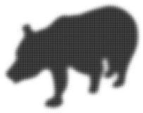 Η σκιαγραφία της αρκούδας Επίδραση ημίτονων διάνυσμα Στοκ Φωτογραφία