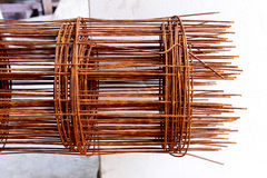 Η σκουριά φραγμών χάλυβα είναι για την κατασκευή Στοκ εικόνα με δικαίωμα ελεύθερης χρήσης