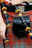 η σκωτσέζικη φούστα διοχετεύει με σωλήνες τα σκωτσέζικα Στοκ φωτογραφία με δικαίωμα ελεύθερης χρήσης
