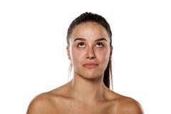 Η σοβαρή γυναίκα χωρίς αποτελεί Στοκ Φωτογραφία