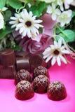 η σοκολάτα ανθίζει τα γλ& Στοκ Φωτογραφία