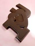 η σοκολάτα ι καραμελών σας αγαπά Στοκ φωτογραφία με δικαίωμα ελεύθερης χρήσης