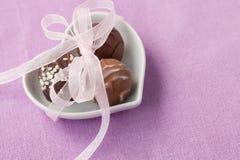 Η σοκολάτα μεταχειρίζεται Στοκ Φωτογραφίες