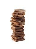 η σοκολάτα τεμαχίζει το&nu Στοκ φωτογραφίες με δικαίωμα ελεύθερης χρήσης