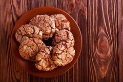 Η σοκολάτα τσαλακώνει τα μπισκότα Στοκ Εικόνες