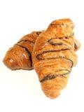η σοκολάτα ψωμιού απομόνωσε το γλυκό δύο ρόλων Στοκ Φωτογραφία