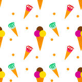 Η σοκολάτα κώνων παγωτού μεταχειρίζεται απεικόνιση αποθεμάτων