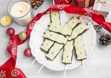 Η σοκολάτα Χριστουγέννων μεταχειρίζεται Στοκ φωτογραφία με δικαίωμα ελεύθερης χρήσης