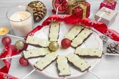 Η σοκολάτα Χριστουγέννων μεταχειρίζεται Στοκ Εικόνα