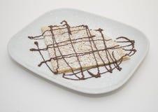 Η σοκολάτα crepe στο πιάτο Στοκ Εικόνα