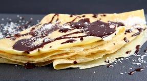 Η σοκολάτα crepe Στοκ φωτογραφίες με δικαίωμα ελεύθερης χρήσης