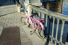Η Σουηδία, Στοκχόλμη αυξήθηκε αναδρομικός -αναδρομικός-bycicle Στοκ εικόνες με δικαίωμα ελεύθερης χρήσης
