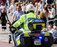 Η σουηδική αστυνομία μοτοσικλετών στην υπερηφάνεια της Στοκχόλμης παρελαύνει το 2015 Στοκ φωτογραφία με δικαίωμα ελεύθερης χρήσης