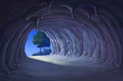 Η σπηλιά τη νύχτα ελεύθερη απεικόνιση δικαιώματος
