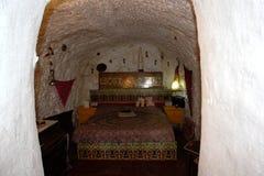 Η σπηλιά τσιγγάνων μέσα, Sacromonte Γρανάδα, Ισπανία Στοκ φωτογραφία με δικαίωμα ελεύθερης χρήσης