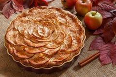 Η σπιτική γαστρονομική πίτα μήλων έψησε το γλυκό παραδοσιακό Στοκ Φωτογραφία