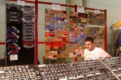 Η στάση κουμπιών και λωρίδων Στοκ εικόνα με δικαίωμα ελεύθερης χρήσης