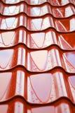 η στέγη ανασκόπησης κεραμώ&n Στοκ Εικόνες