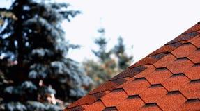Η στέγη κεραμώνει το υπόβαθρο γραμμών bokeh Στοκ Εικόνα