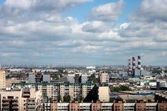 Η στέγη της μεγάλης πόλης Στοκ Φωτογραφίες