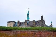 Η στέγη του κάστρου elsinore στοκ εικόνες