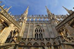 Η στέγη του Di Μιλάνο Duomo καθεδρικών ναών του Μιλάνου Στοκ φωτογραφία με δικαίωμα ελεύθερης χρήσης